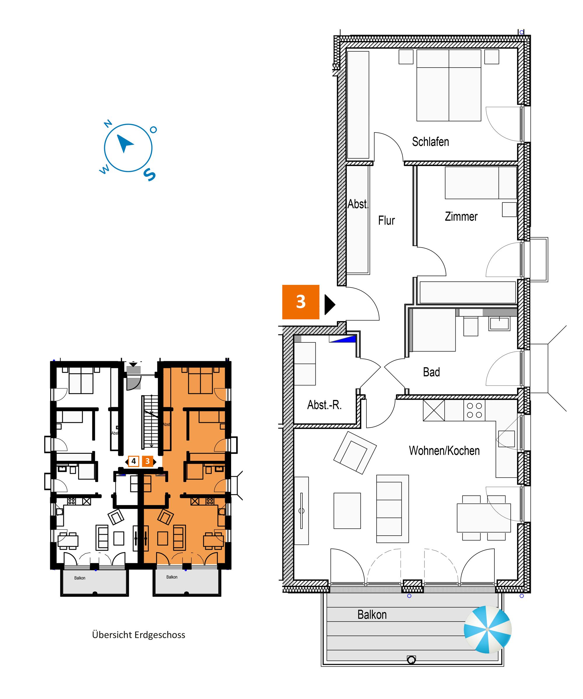 Scholtz Immobilien Grömitz Brookgang 46 - Wohnung 3